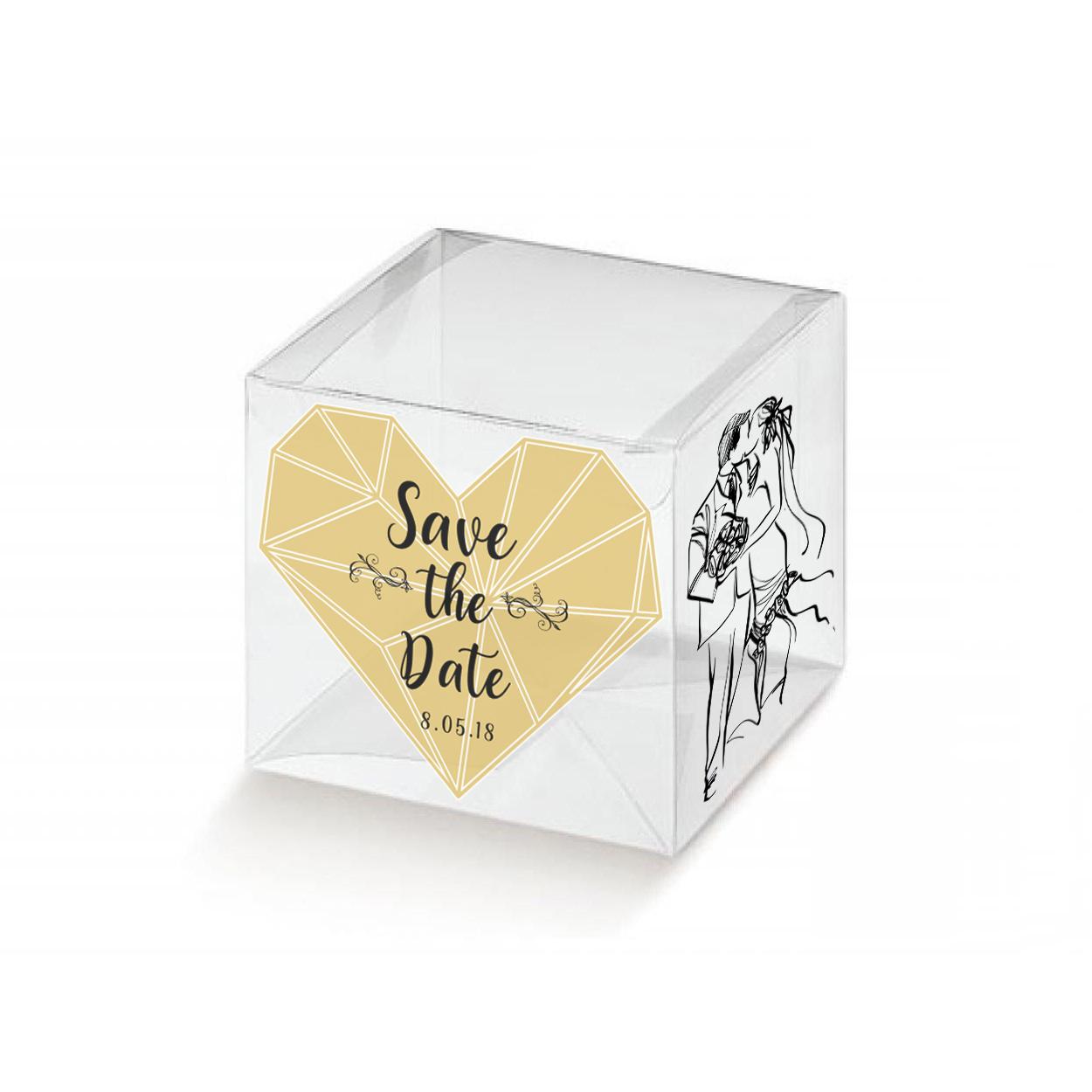 10 Cubi trasparenti portabomboniere 1