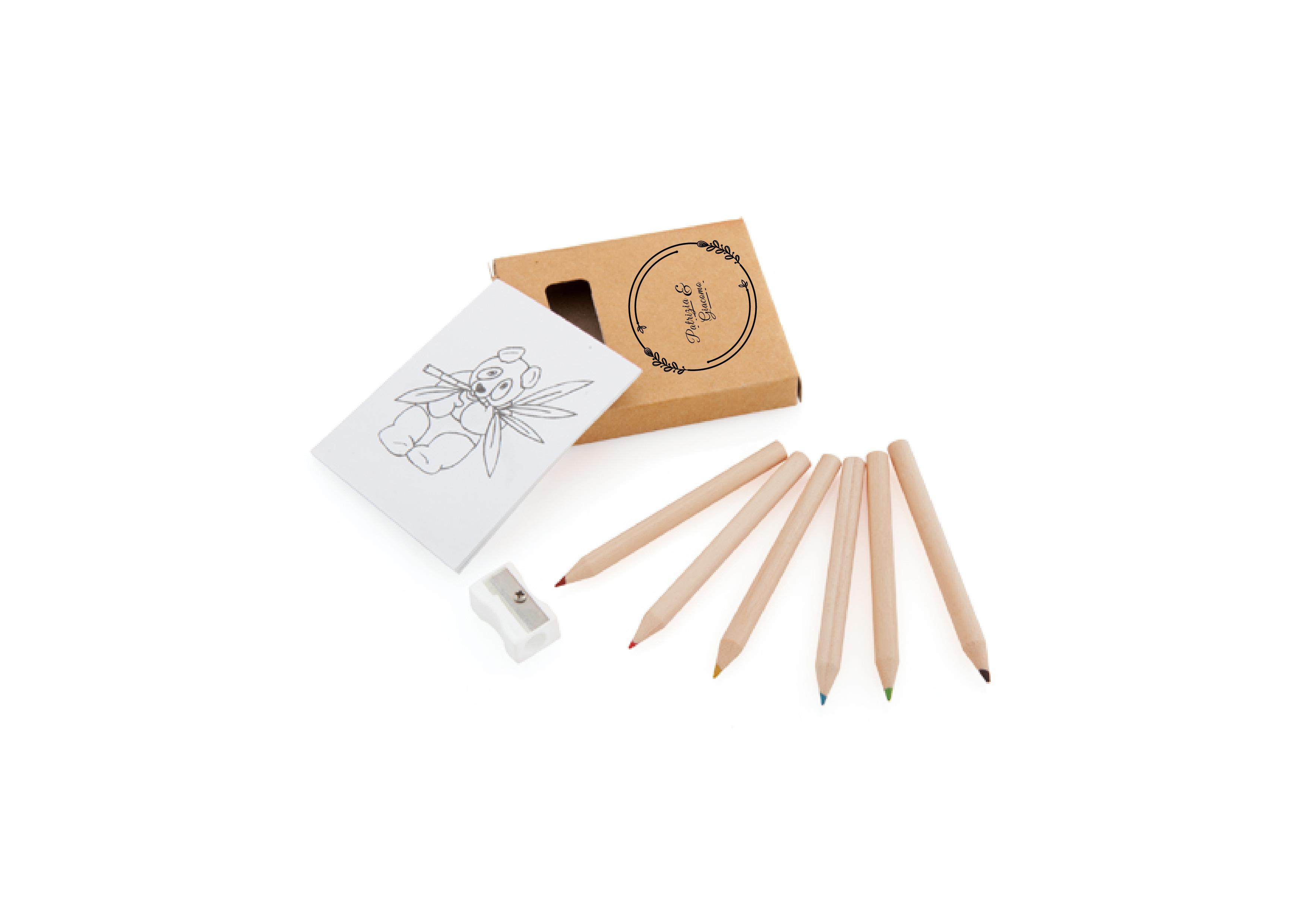 Set matite con disegni
