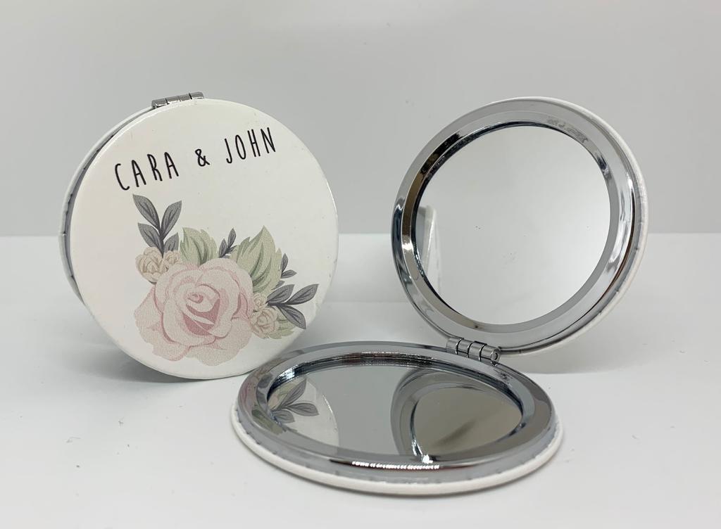 Specchietto tondo personalizzato 2