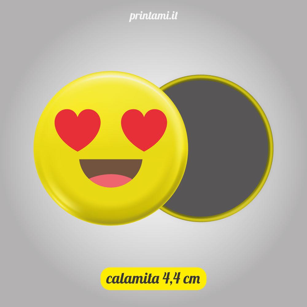Calamita tonda con Emoji 1