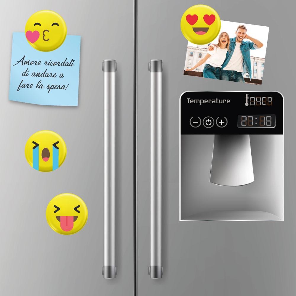 Calamita tonda con Emoji 2