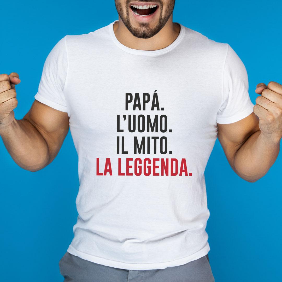 T-Shirt Papà l'uomo il mito...