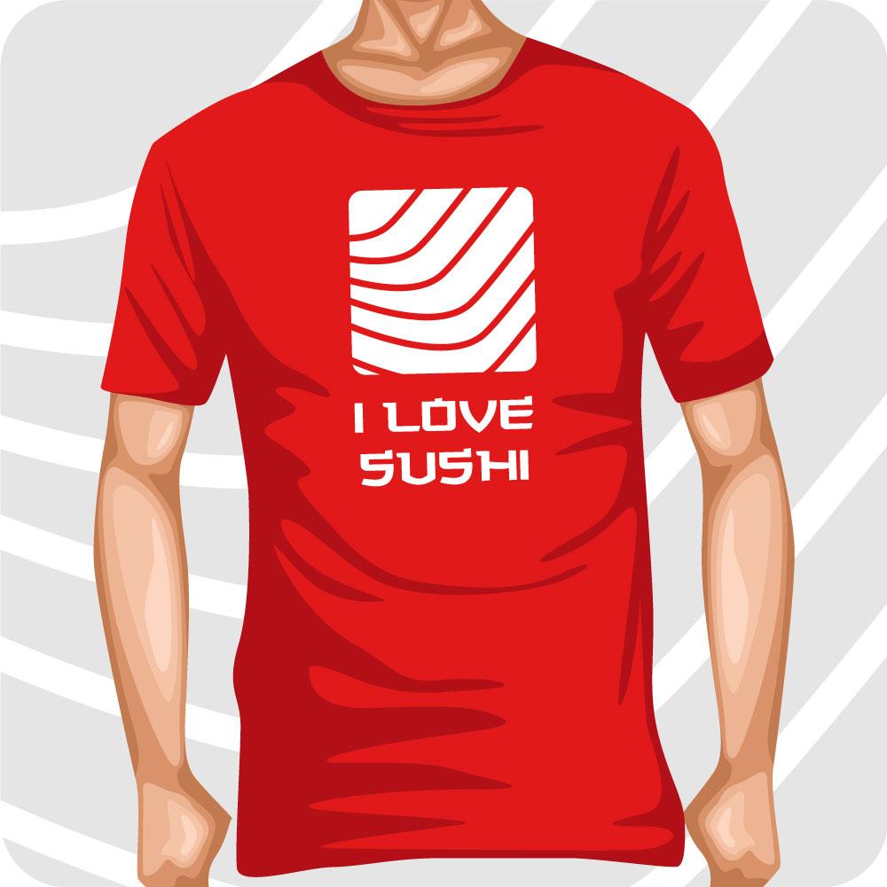 T-Shirt I love Sushi Salmone 2