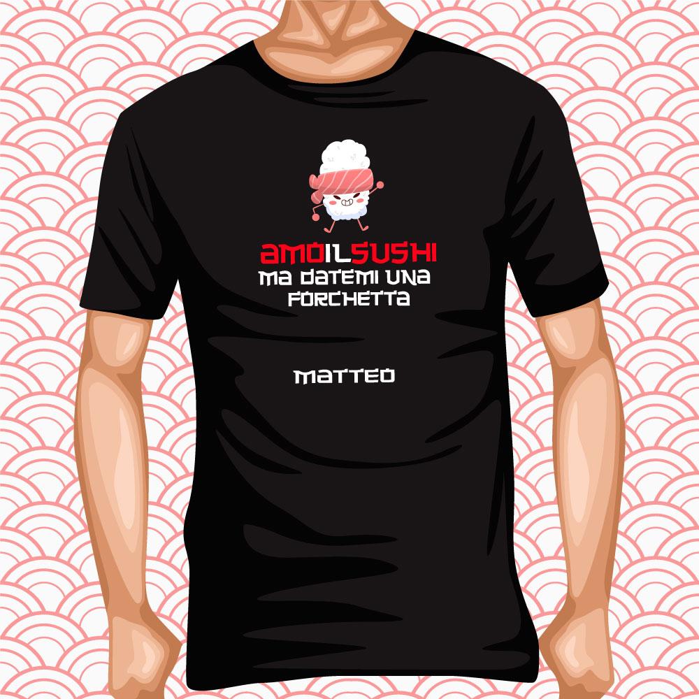 T-Shirt Amo il sushi 1