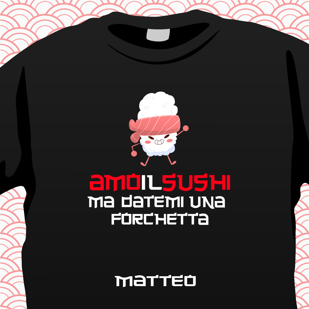 T-Shirt Amo il sushi 2