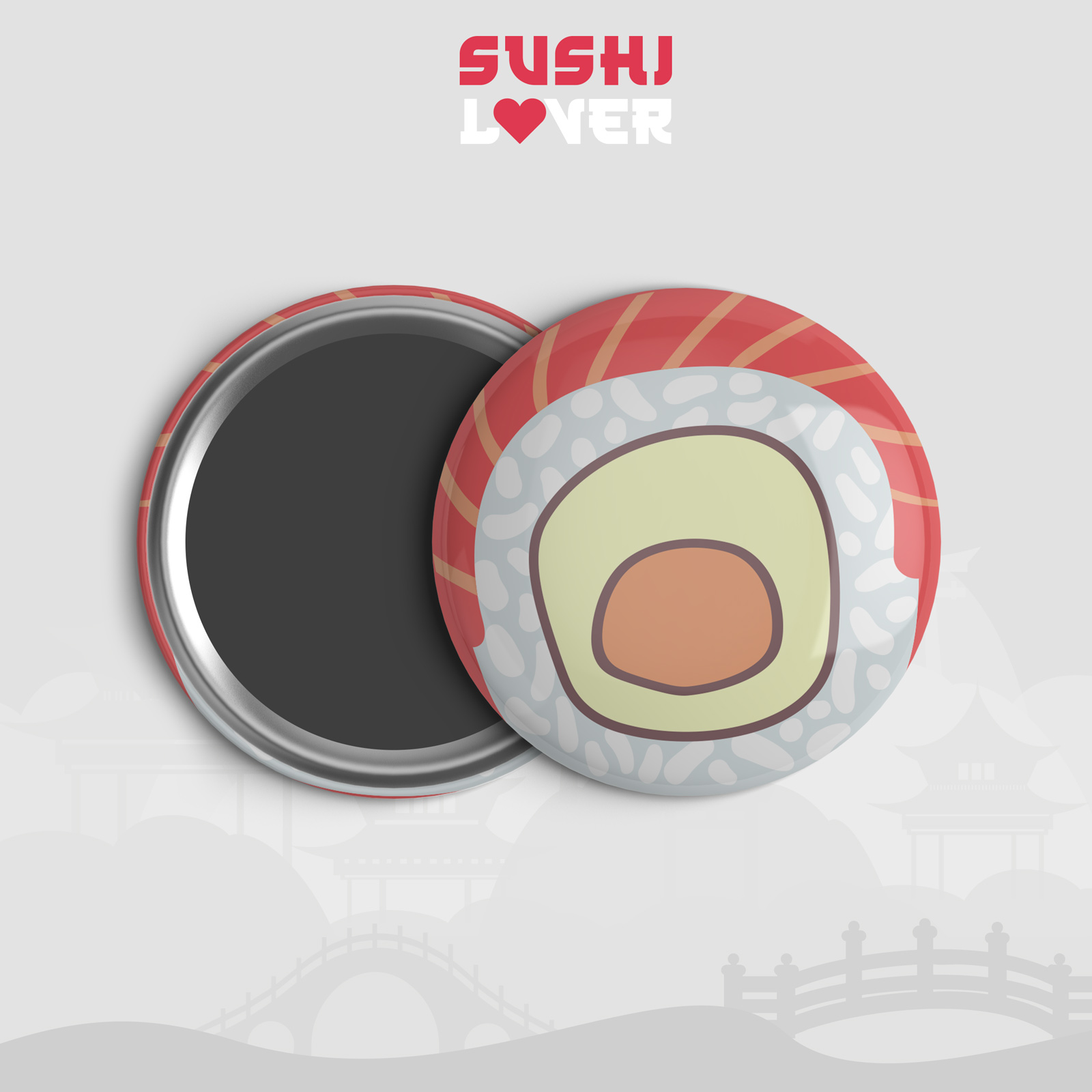 Calamita tonda Sushi Lover 1
