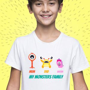 T-Shirt My Monsters Family 2