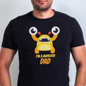 T-Shirt I'm a Monster per il papà 2