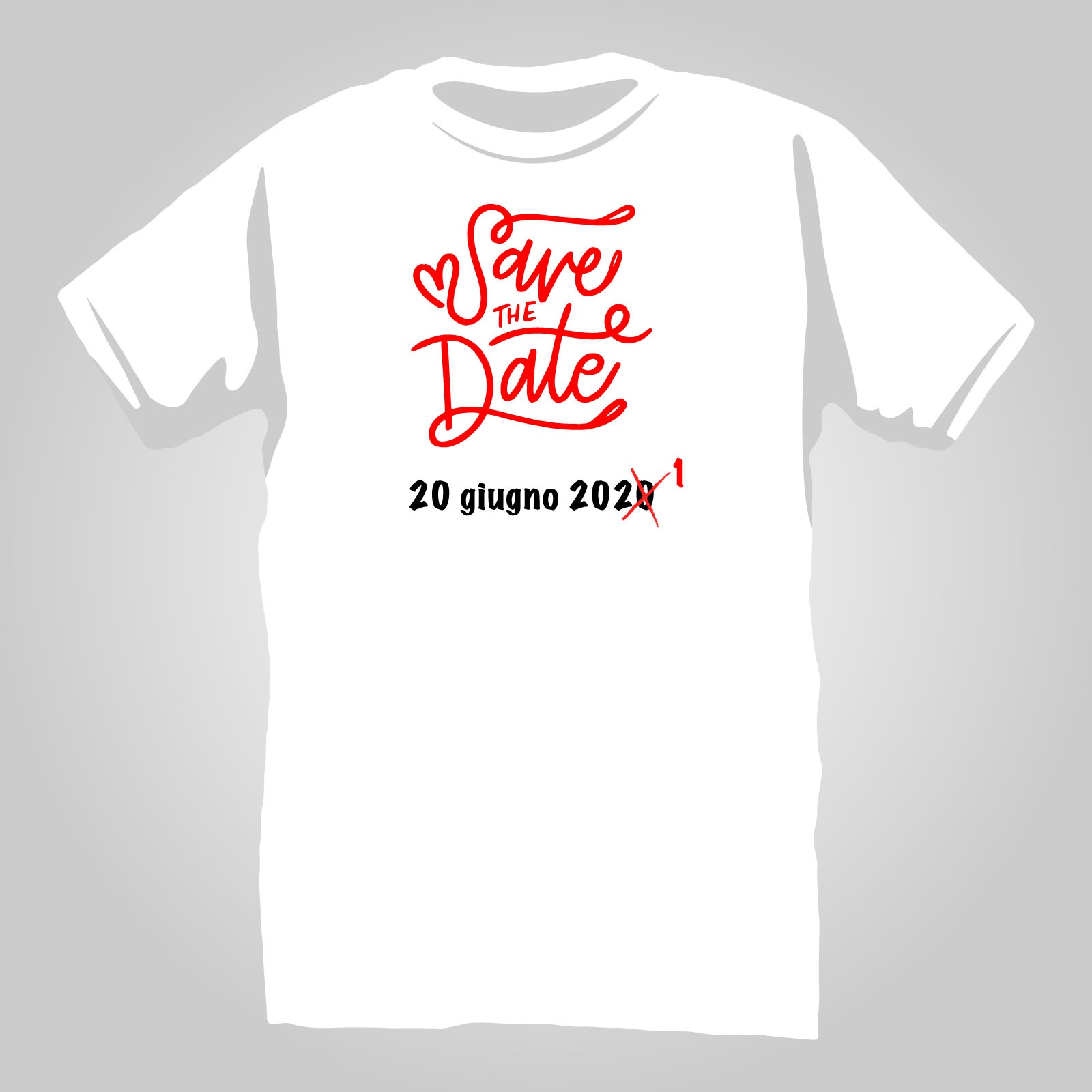 T-Shirt save the NEW date 1