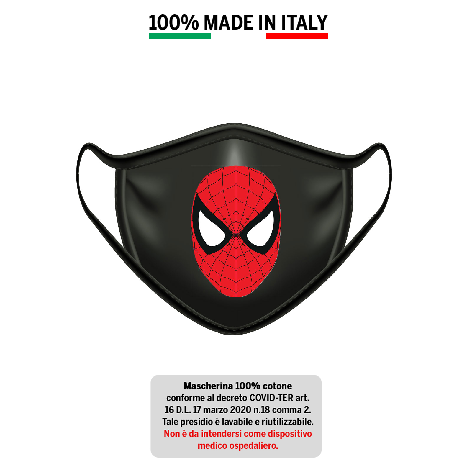 Mascherina in cotone 100% Spiderman 1