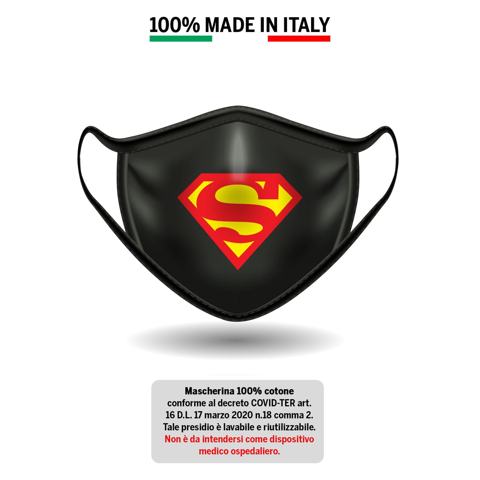 Mascherina in cotone 100% Superman 1