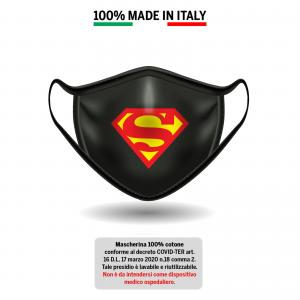 Mascherina in cotone 100% Superman 1