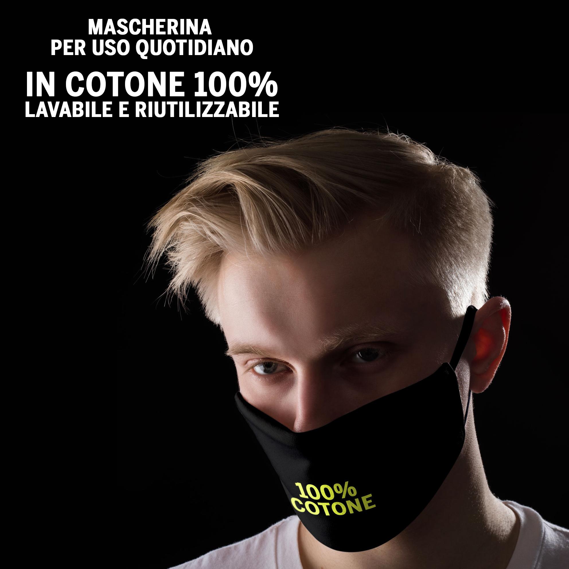 Mascherina Bianconera in cotone 2