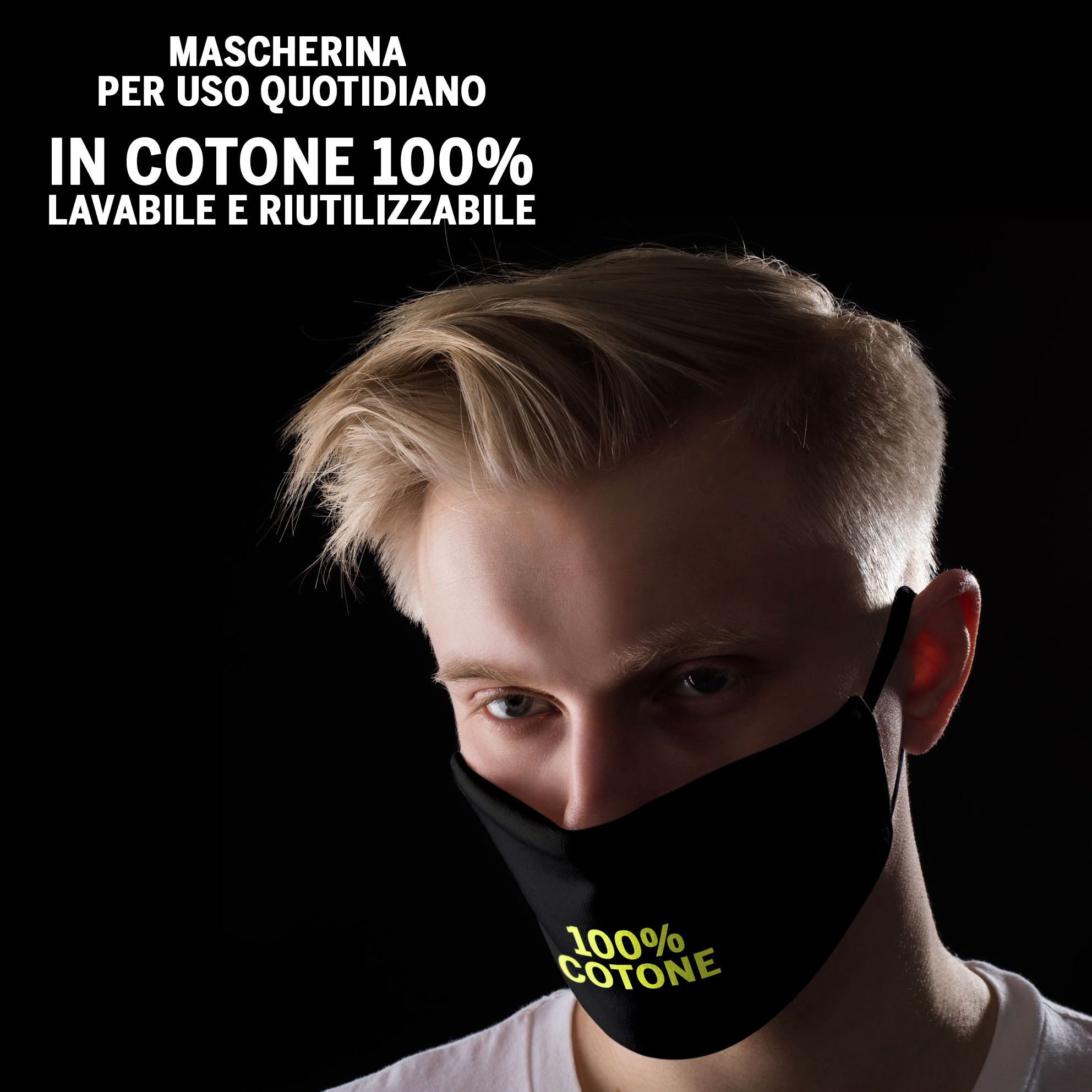 Mascherina Rossonera in cotone 2