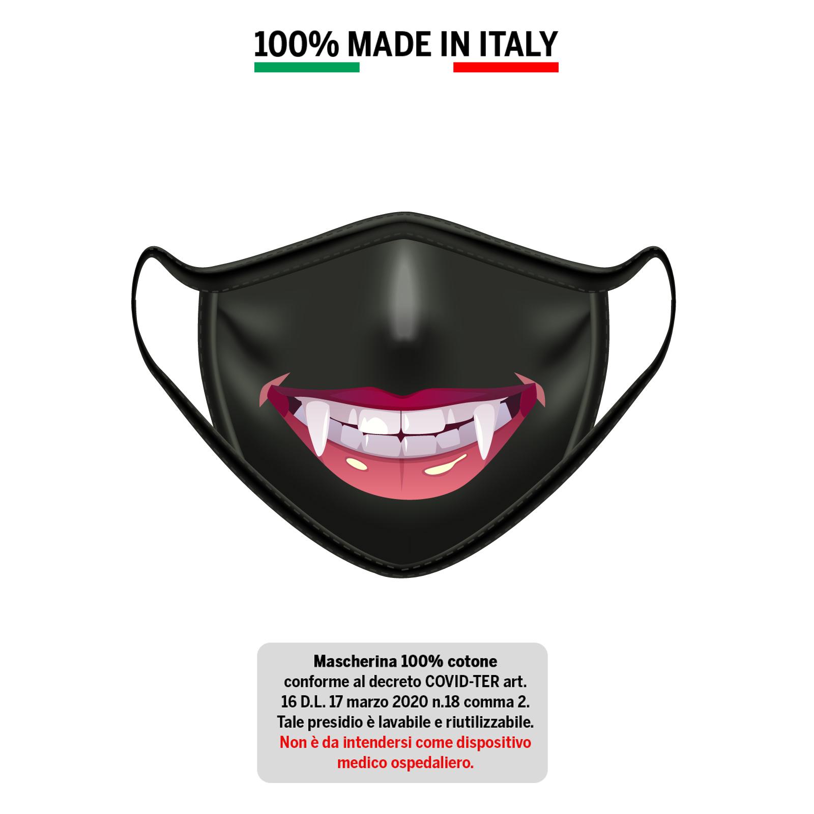 Mascherina in cotone 100% Sorriso 1