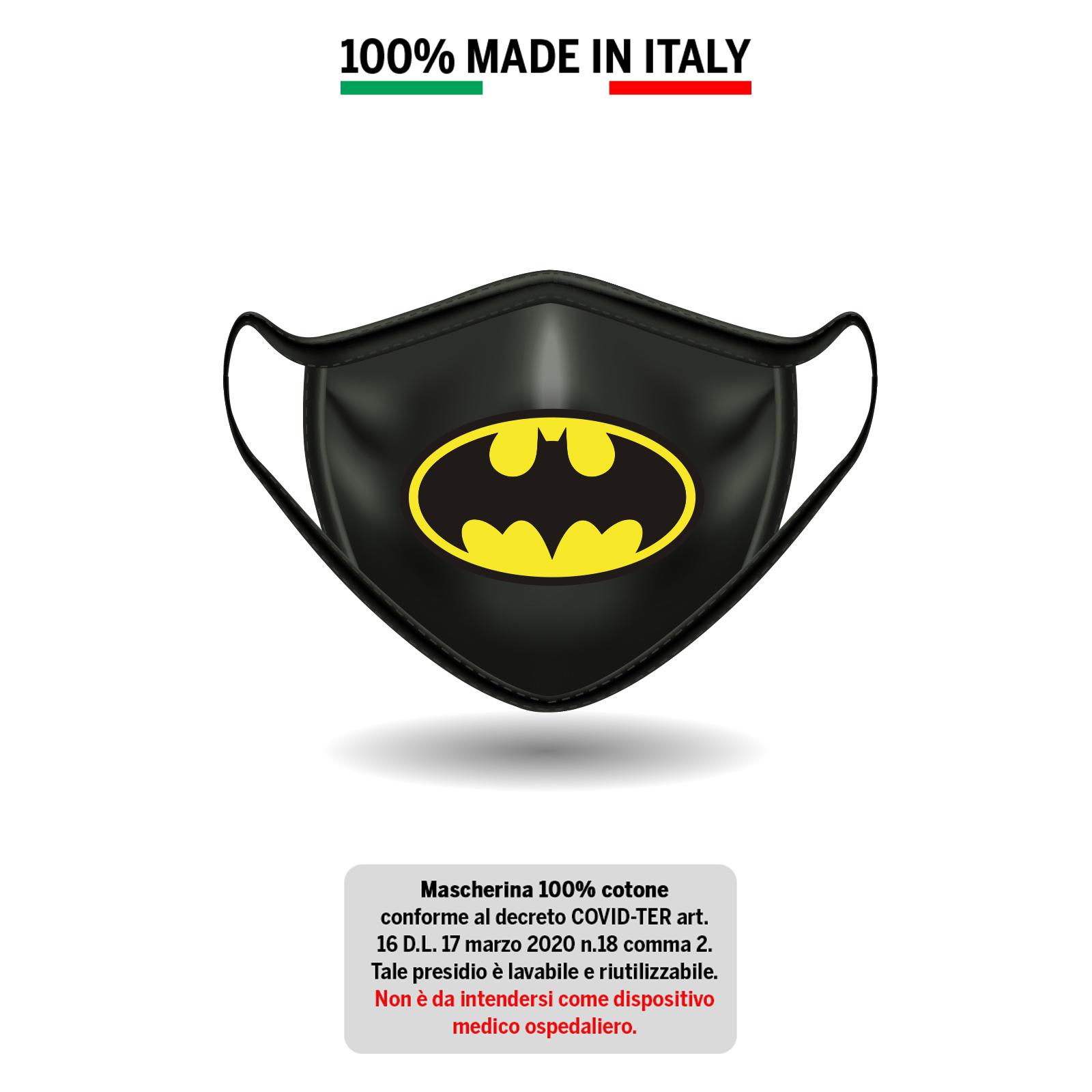 Mascherina in cotone Batman