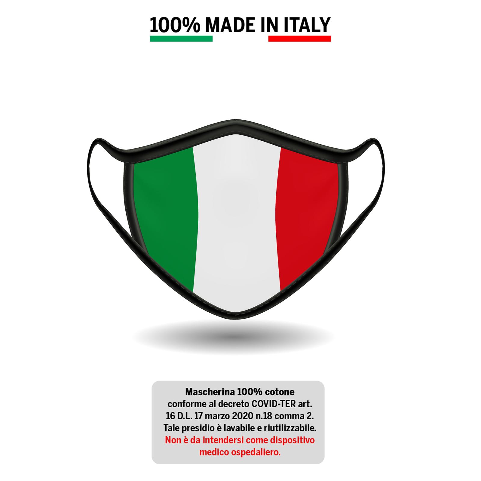 Mascherina Italia cotone 100%
