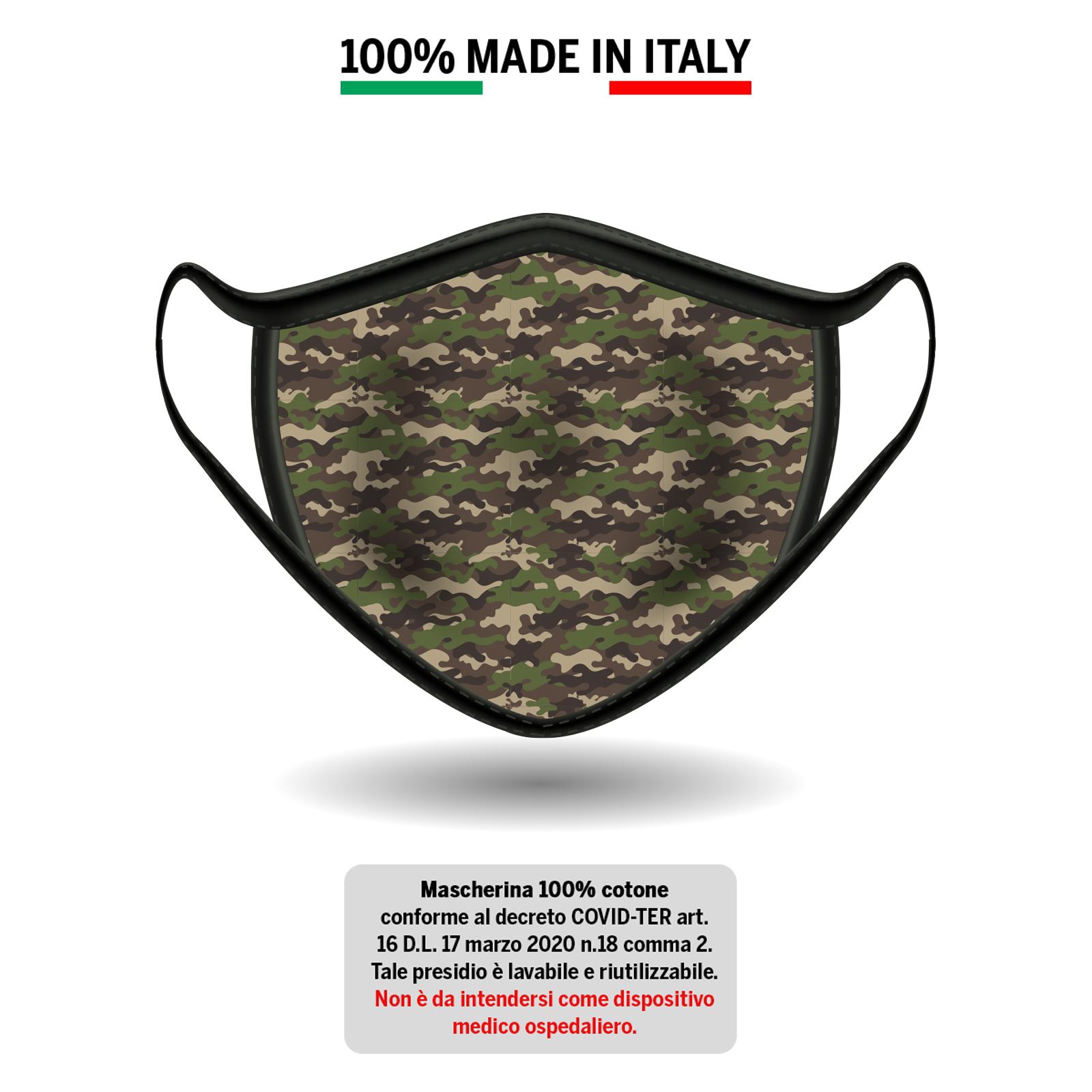 Mascherina in cotone militare