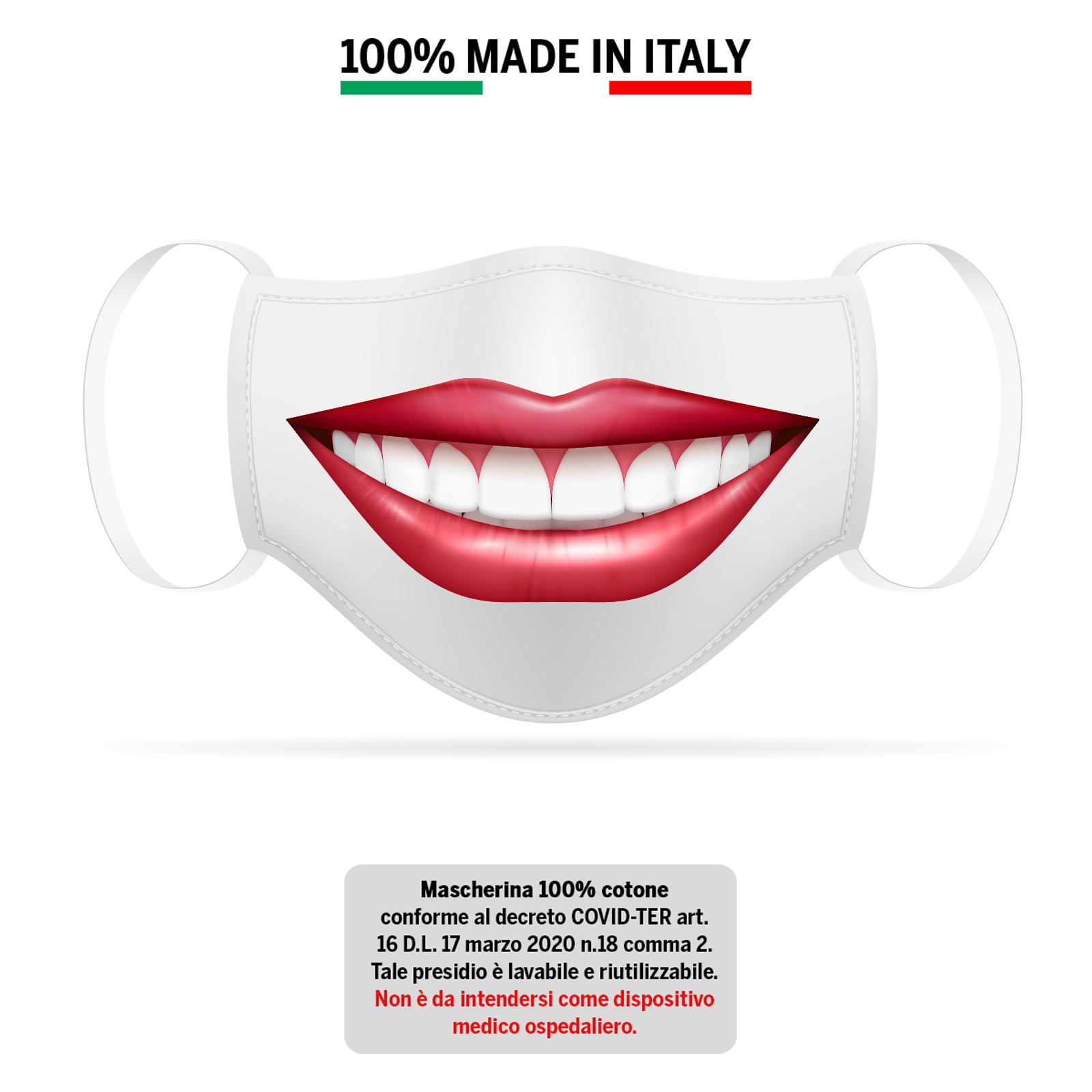 Mascherina bianca Sorriso 1