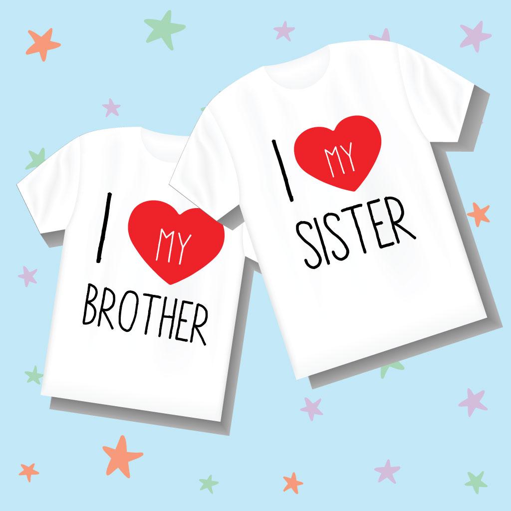 Coppia t-shirt fratello e sorella